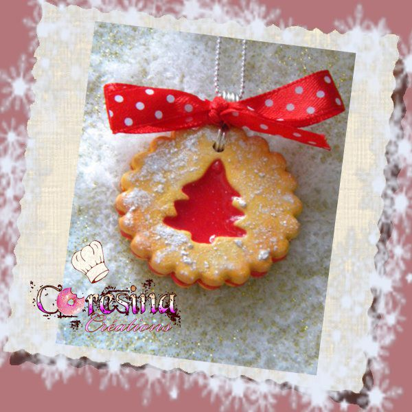 Collier Biscuit Sapin