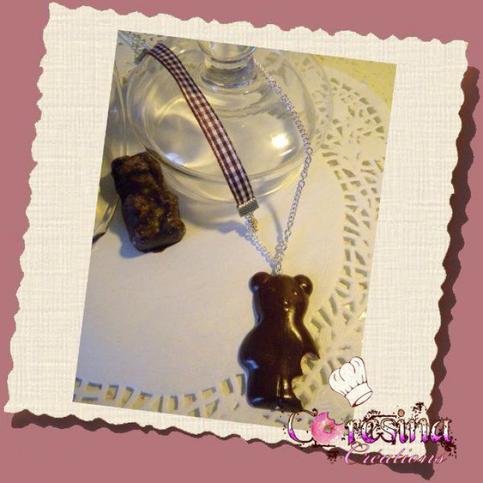 "bijoux gourmands:collier ""CHUBBY BEAR"""